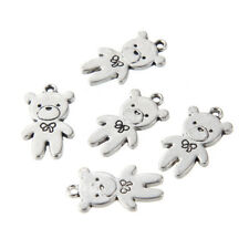 10PC Alloy Stereoscopic Little Bear Charm Pendant DIY Jewelry Necklace Gift