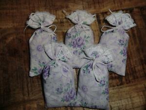5 Lavendelsäckchen *Traumland* Lavendelkissen Schrankduft Deko Wäscheduft