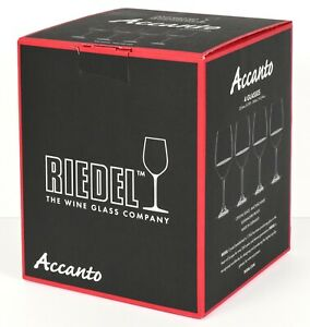 "*NEW* Riedel ""Accanto"" Red Wine Crystal Glass - Set of 4 - Made in Germany *NIB*"
