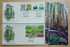 2004 Malaysia 100 Years Matang Mangroves 4v Stamps & MS on 2 FDC