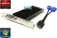 NEW NVIDIA Quadro NVS 290 Win7 Dual Monitors Support DMS59 Dual VGA Video Card