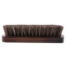 Vintage Shoe Shine Brush Horsehair Horse Hair Wood Handle Buffing Brush LD