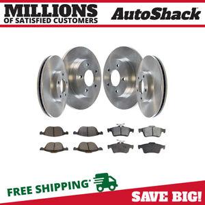 Front & Rear Disc Brake Rotors & Semi Metallic Pads Kit for 2005-2012 Mazda 3