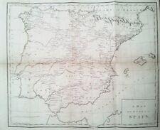 ESPAÑA, Mapa de caminos original , Bourgoing,1808