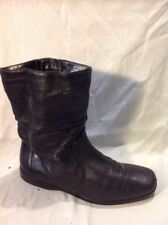 K By Clarks Black Mid Calf Leather Boots Size 5E