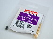 White Sandwich Flags  -10 pack write on buffet cake food party