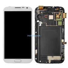 For Samsung Galaxy Note 2 N7100 LCD Display Touch Screen+Frame white+cover+tool