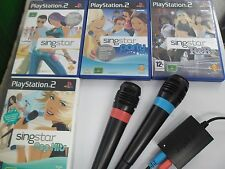 PS2 Juego-SingStar Bundle-Sing Star + + + hits Pop R&b De Fiesta + micrófonos