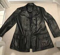 Rare Renegade Leather Mens Vintage Jacket L