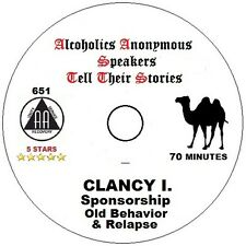 Alcoholics Anonymous AA Speaker CD - Clancy I. on Sponsorship and Relapse