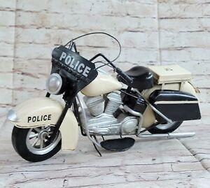 European Finery 1:10 Harley  Police MOTORCYCLE BIKE DIECAST MODEL Artwork Decor