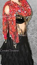 Autumn Mirrored Scarf Gypsy Tribal Fusion Belly Dance ATS Gothic Steampunk