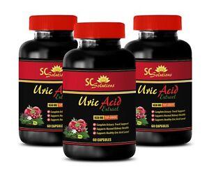 reduce uric acid levels - Uric Acid Formula 1430mg - celery seeds 3 Bottles