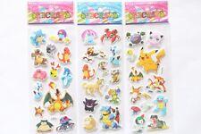 Hot Sale 3pcs Pokemon Pikachu Pocket Monster Scrapbooking Sticker Sheet