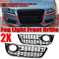 Left + Right Standard Front Bumper Fog Light Grill For Audi A5 COUPE