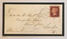 59 QV 1d mourning cover signed William Harrison Ainsworth Dick Turpin Guy Fawkes