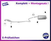Komplette Auspuffanlage Mazda 2 1.25, 1.3, 1.4  Auspuff Flexrohr + Montagesatz