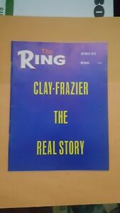 Ring Boxing Magazine. October 1970. Cassius Clay, Joe Frazier.