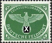 Dt. Feldpost 2.WK 4 (kompl.Ausg.) postfrisch 1944 Feldpostpäckchenmarke