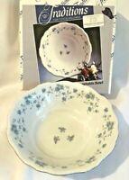 NIB JOHANN HAVILAND Blue Garland Pattern Vegetable Bowl