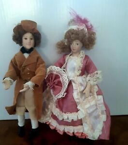 Dolls House Selection Of Figures TLC Lady and Gent  1.12
