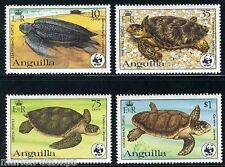 ANGUILLA TURTLES WORLD WILDLIFE FUND SC#537/40 SG#560/68 MINT NH