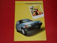 PEUGEOT 205 3 PORTE XE XL XLD XR prospectus de 1985