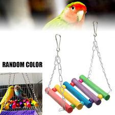 Colorful Parrot Parakeet Pet Bird Cage Hammock Swing Hanging Playing Toy US Fast