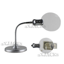 LED JEWELERS MAGNIFYING WORK MAGNIFIER DESK BENCH TABLE LIGHT LAMP FLEX CORDLESS