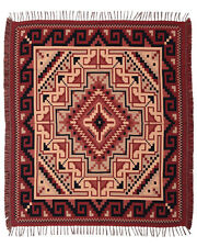 #5000 Native American Southwest Design Two Gray Hills Accent Throw Blanket Rug