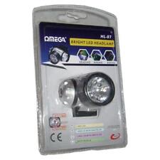 Omega 25007 6 LED 1 Krypton Head Mounted Lamp Light Torch Red White Bulb AAA Inc
