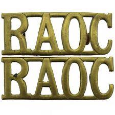 Original WW2 Royal Army Ordnance Corps raoc Hombro Título Par - mz38
