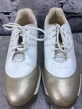 Adidas Sz 7 Golf Soft Cleat Shoes Z-Traxion FitFoam Gold Pearl Tour Metal Women