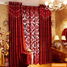 high-grade Italian velvet wedding room festive red cloth curtain drapes N929