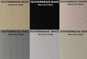 """FEATHERWEAVE VERTICAL BLIND REPLACEMENT SLATS LOUVRES DIM OUT 89mm 3.5"""""""