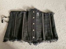 Black Detailed Corset Bustier Size 4xl