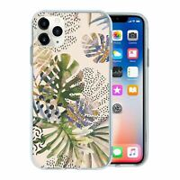 For Apple iPhone 11 PRO MAX Silicone Case Nature Leafs Art Print - S6922