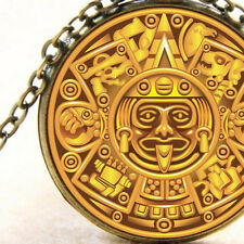 Ancient Mayan, Maya Aztec Symbols Calendar,  Necklace Ladies or Mens Jewellery