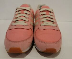 Adidas NEO City Racer Womens Shoes Size 8 Color:White/Pink