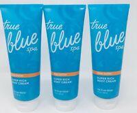3 BATH & BODY WORKS TRUE BLUE SPA SHEA BUTTER SUPER RICH BODY CREAM LOTION 10 OZ