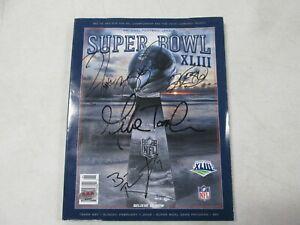 Super Bowl XLIII Program Signed by Bettis, Ward, Tomlin, Roethlisberger