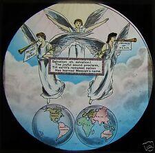 Glass Magic Lantern Slide ANGELS ABOVE THE WORLD C1900 CHRISTIAN RELIGION