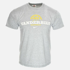 Vanderbilt Commodores 90s NIKE Basketball Logo Double Sided Vintage Tee Shirt S