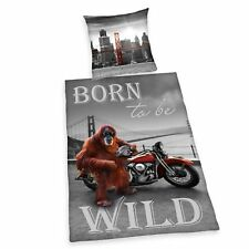 Bed Cover Born To Be Wild San Francisco Golden Gate Present 135 x 200 cm NEW