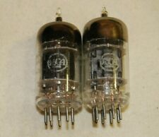 Pair of Strong matched Vintage 1955 RCA JRC 5814A 3 Mica Black Plate TUBES