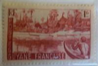 French Guiana 1939-40 Stamp 1fr MNH Stamp Rare Antique StampBook1-76