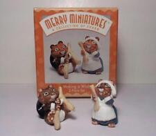 1997 Thanksgiving Hallmark Merry Miniatures - Making A Wish - Mint In Box