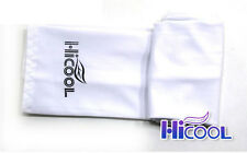 New High Cool 1Pair Arm Sleeves Cooling UV Sun Protect Golf Cycling Toshi White