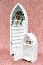 Bateau Armoire Étagère de Salle Bain 2er Set 120001 60,123 cm Shabby Bois Blanc
