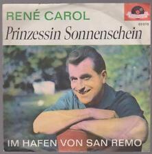 """7"""" Rene Carol Principessa Sonnenschein / Im Hafen von San Remo Polydor 52 070"""